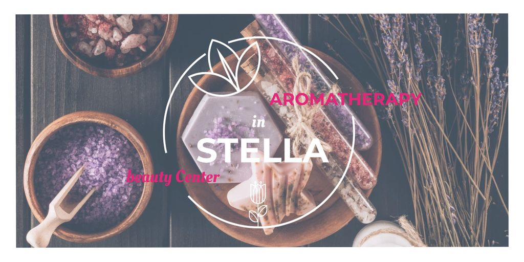 Aromatherapy in Stella beauty center poster Image Design Template