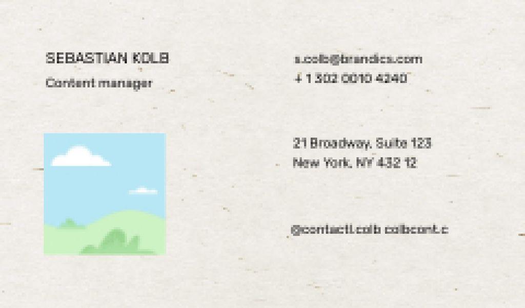 Plantilla de diseño de Content Manager contacts Business card