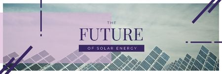 Energy Supply with Solar Panels in Rows Email header Modelo de Design