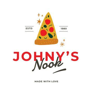 Pizzeria ad with yummy Piece