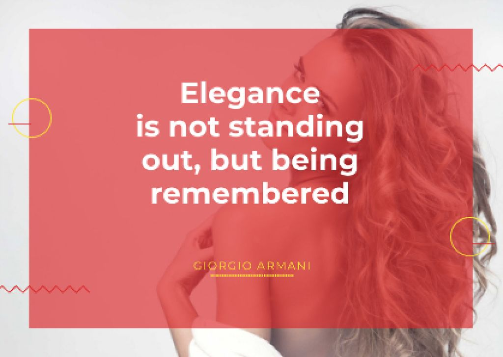 Elegance quote with Young attractive Woman — Crear un diseño