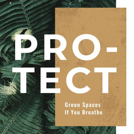 Template di design Green fern leaves  Instagram