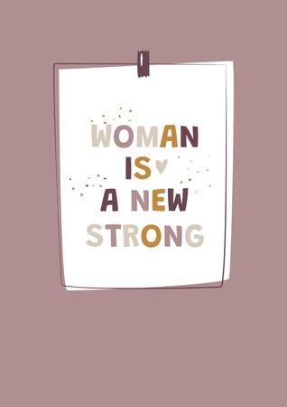 Girl Power Inspirational Citation Poster Πρότυπο σχεδίασης