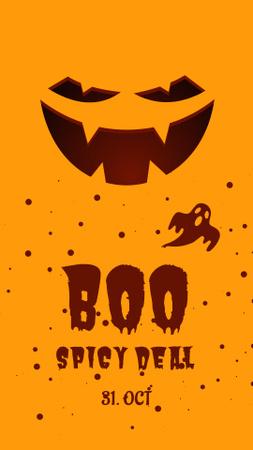Halloween Celebration with Scary Monster's Smile Instagram Story – шаблон для дизайна