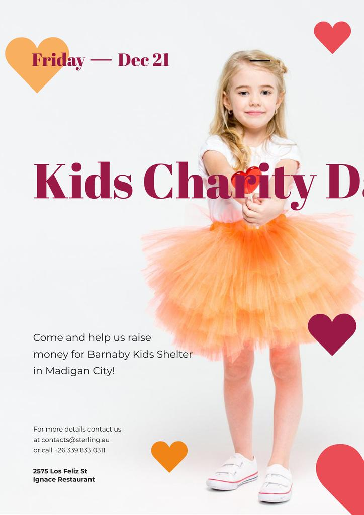 Kids Charity Day with Girl with Heart Candy — Створити дизайн