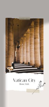 Ancient Vatican building Columns Snapchat Geofilter Design Template