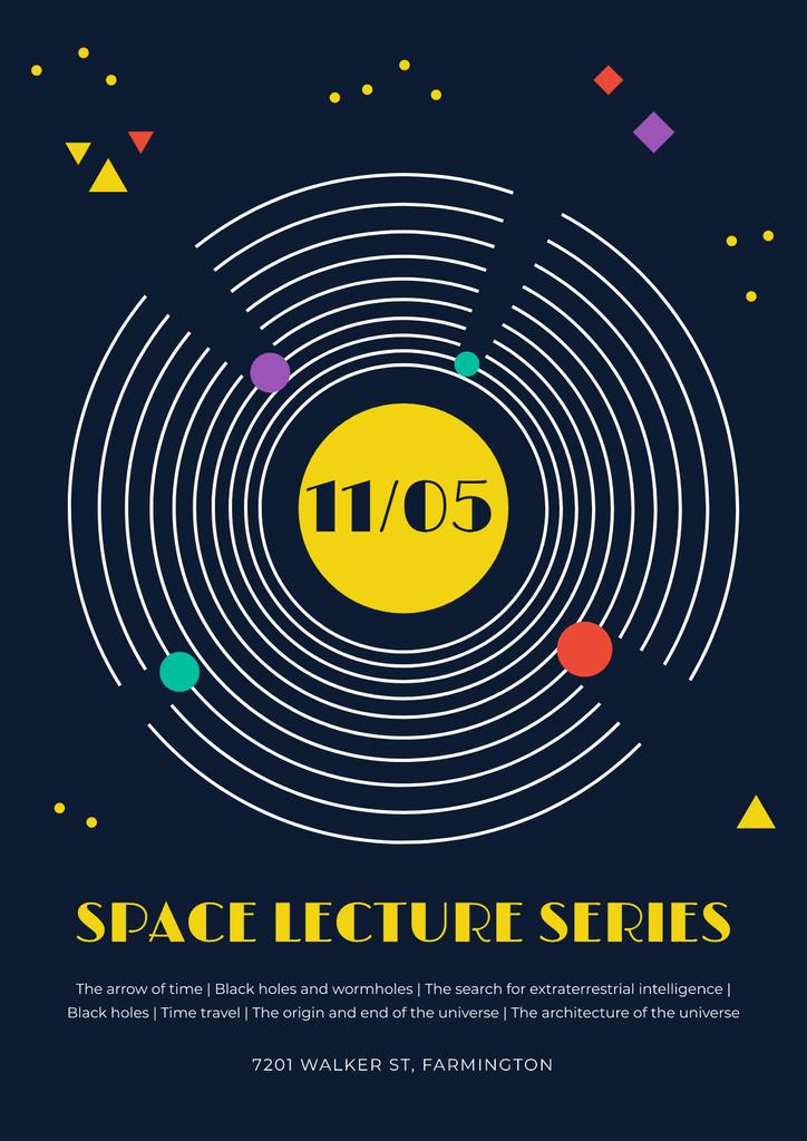 Space lecture series announcement — Crear un diseño