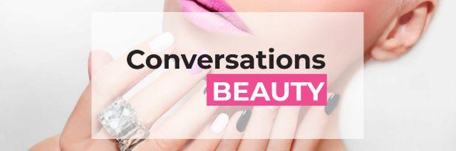 Plantilla de diseño de Beauty conversations Ad Email header