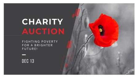 Template di design Charity Ad with Red Poppy Illustration FB event cover