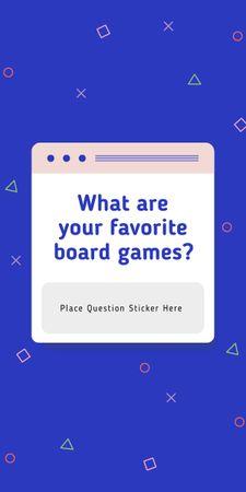 Modèle de visuel Favorite Board Games question on blue - Graphic