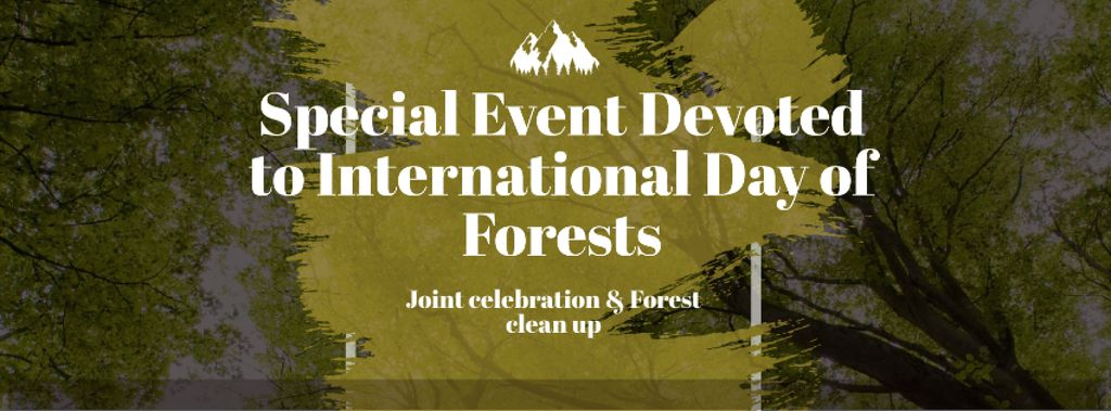 International Day of Forests Event with Tall Trees — Maak een ontwerp