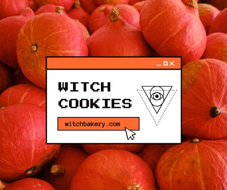 Halloween Pumpkins Cookies Offer Facebook Modelo de Design