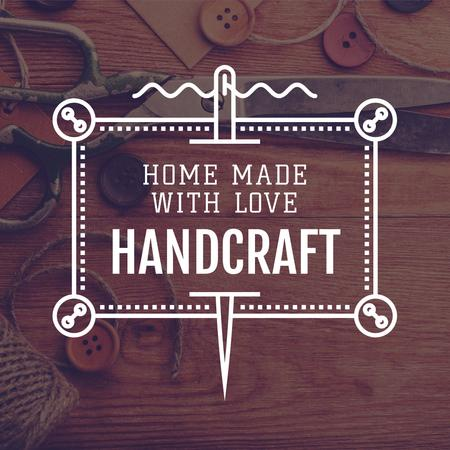 Advertisement for Store of Handcrafted Goods Instagram Design Template
