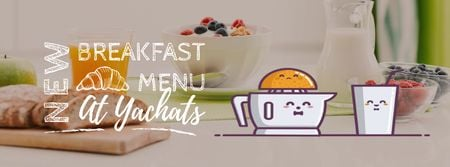 Plantilla de diseño de Breakfast Menu Promotion Citrus Juicer with Glass Facebook Video cover