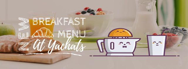 Breakfast Menu Promotion Citrus Juicer with Glass Facebook Video cover Tasarım Şablonu
