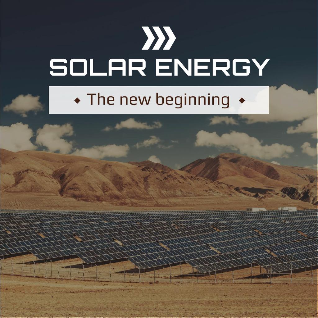 Solar energy Ad with Solar Panels — Modelo de projeto