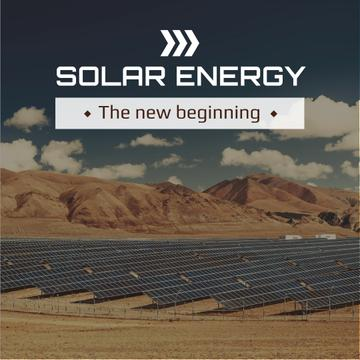 Solar energy Ad with Solar Panels