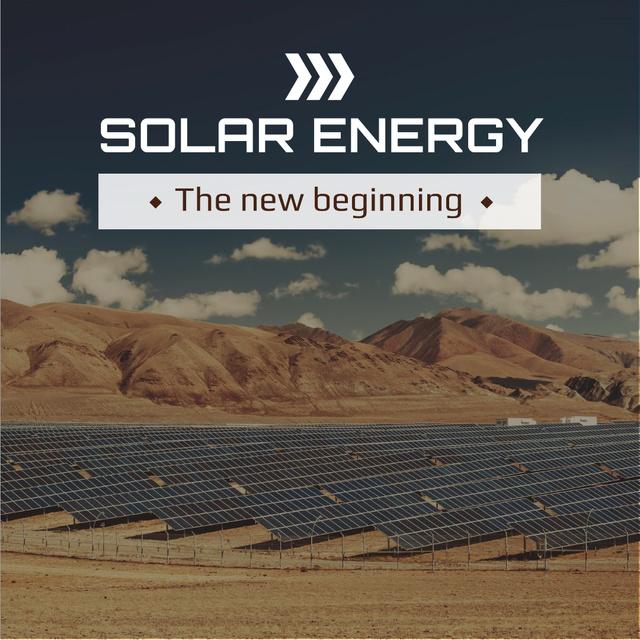 Template di design Solar energy Ad with Solar Panels Instagram