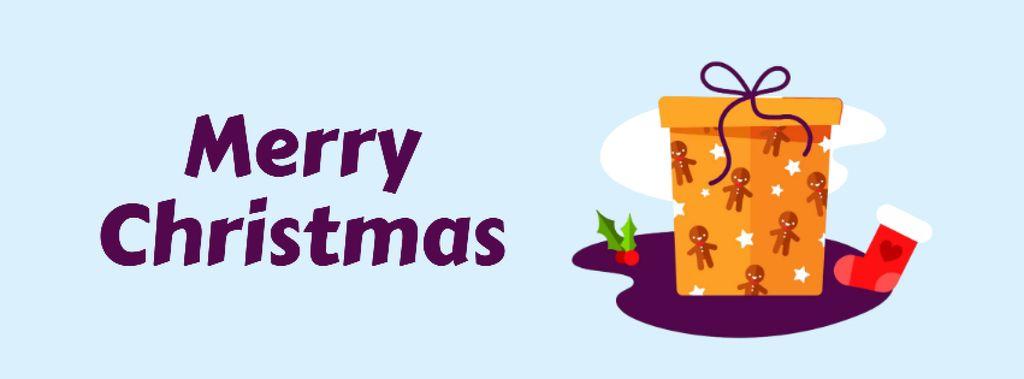 Christmas greeting Gift box — Modelo de projeto