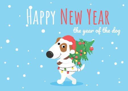 Modèle de visuel Happy New Year Greeting - Card