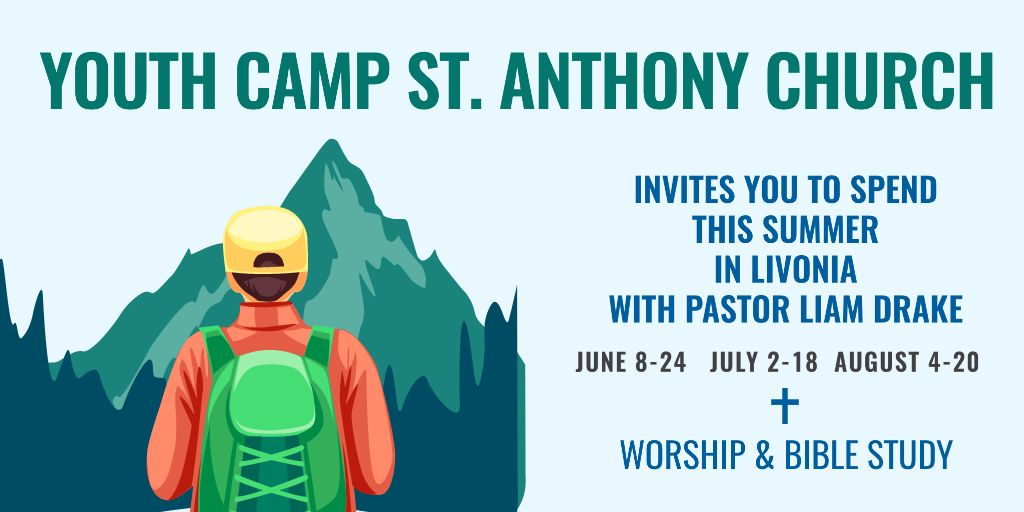 Youth religion camp of St. Anthony Church — Créer un visuel