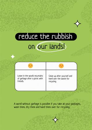 Waste Recycling Concept Motivation Poster Modelo de Design