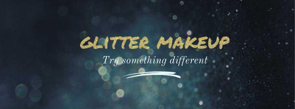 Glamorous Ad with Shining Golden Glitter — Crea un design