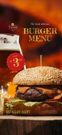 Fast Food Offer with Tasty Burger Snapchat Geofilter Modelo de Design