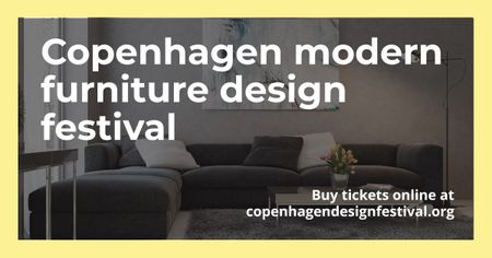 Copenhagen modern furniture Design Festival Facebook AD – шаблон для дизайна