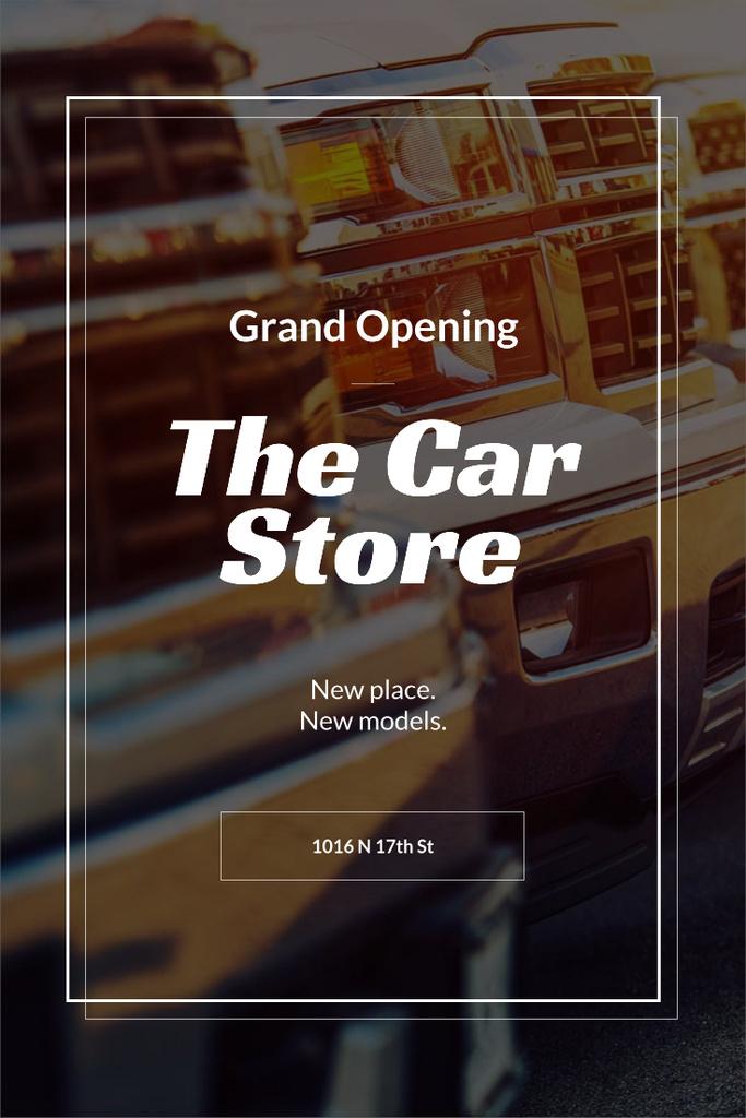 Opening Announcement for car store — Modelo de projeto