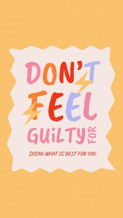 Plantilla de diseño de Inspirational Phrase about Mental Health Instagram Story