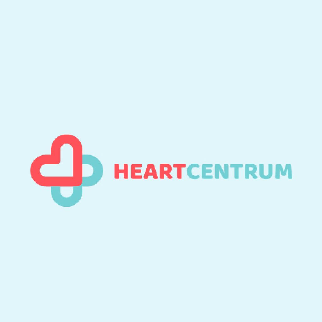 Charity Medical Center with Hearts in Cross Logo – шаблон для дизайна