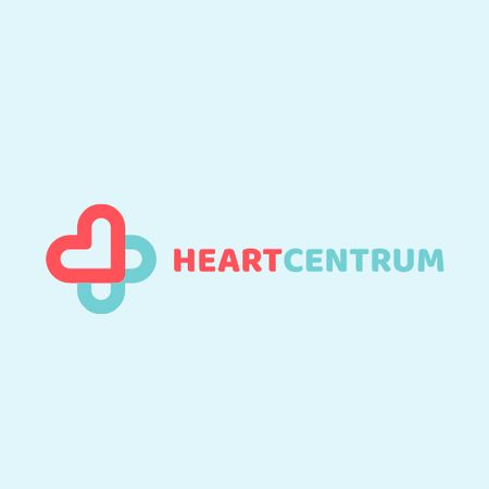 Plantilla de diseño de Charity Medical Center with Hearts in Cross Logo