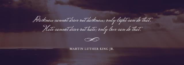 Martin Luther King quote on sunset sky Tumblr Design Template