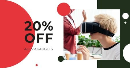 VR Gadgets Discount Offer Facebook ADデザインテンプレート