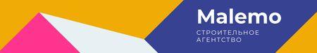 Construction Company profile on geometric pattern LinkedIn Cover – шаблон для дизайна