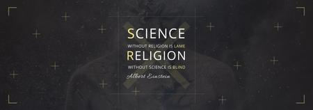 Plantilla de diseño de Science and Religion Quote with Human Image Tumblr