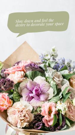Bouquet of Tender Flowers Instagram Story Modelo de Design