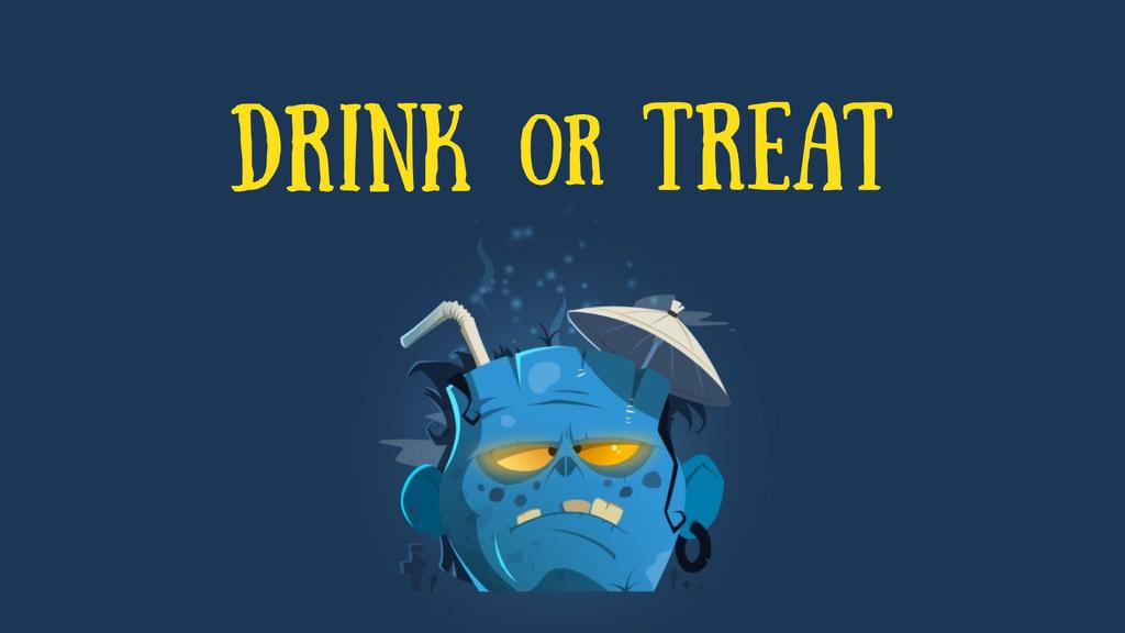 Halloween Drink in Frankenstein Head —デザインを作成する