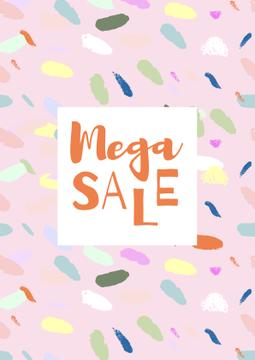 Sale announcement on colorful pattern