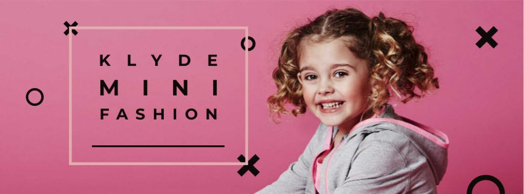 Kids' Clothes Ad with smiling Girl — Создать дизайн