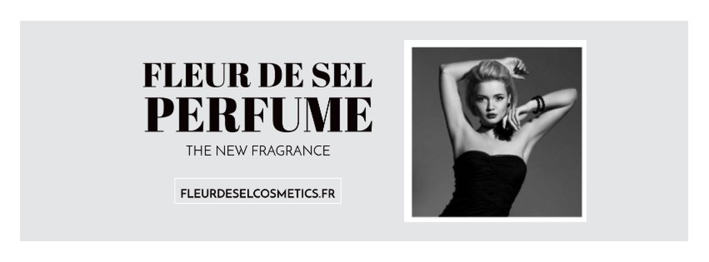 Perfume ad with Fashionable Woman in Black — Crea un design