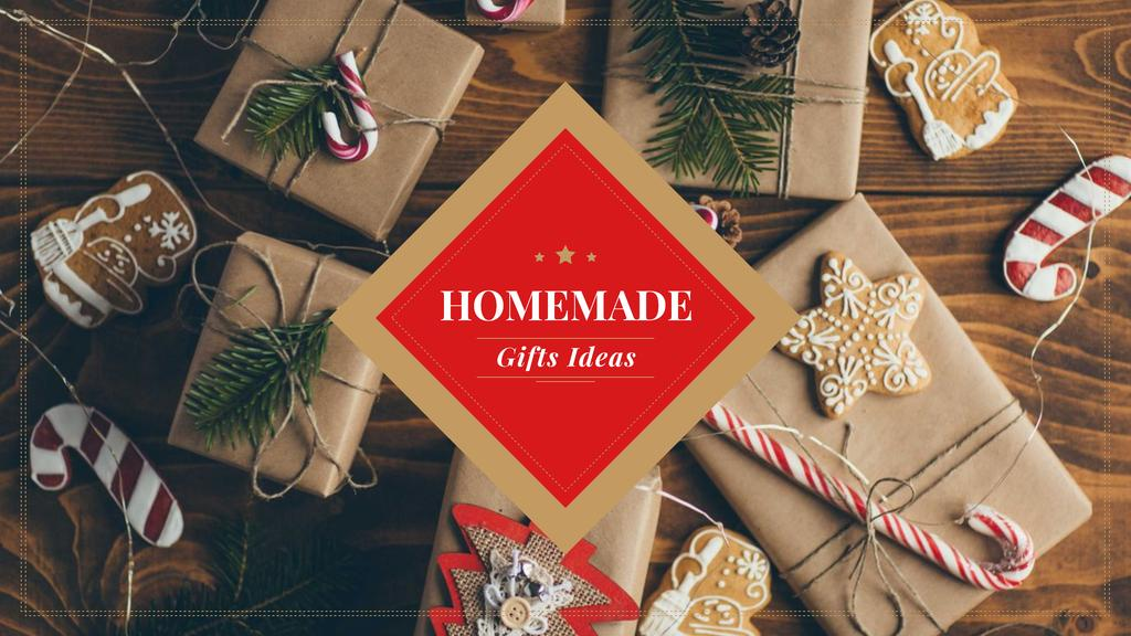 Handmade Christmas Gift Ideas with Wrapped Boxes — Maak een ontwerp