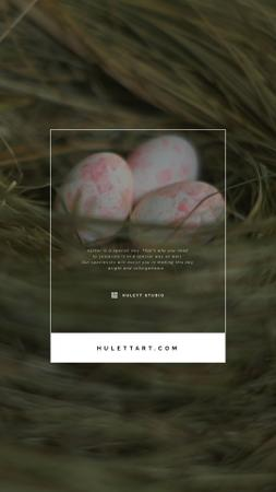 Template di design Easter Greeting Colored Eggs in Nest Instagram Video Story