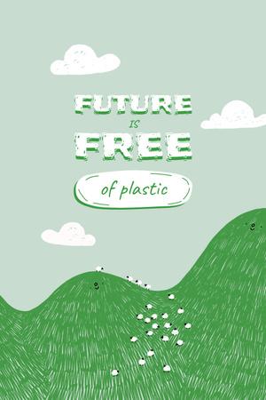 Modèle de visuel Eco Concept with Green Hill illustration - Pinterest