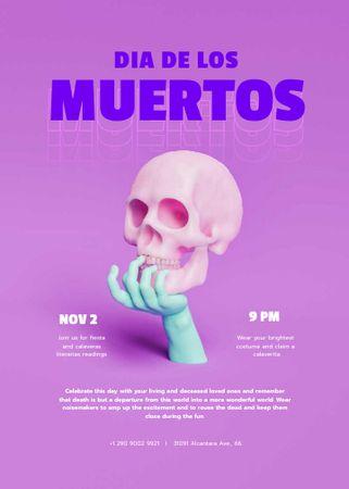 Dia de los Muertos Celebration Announcement Invitation – шаблон для дизайна