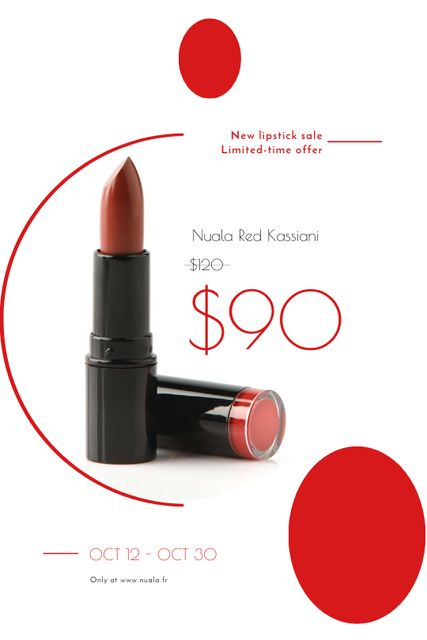 Szablon projektu Cosmetics Sale with Red Lipstick Tumblr