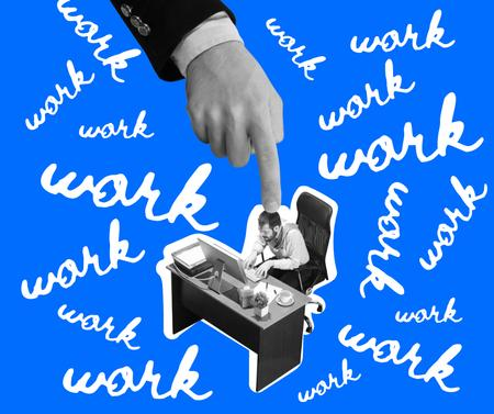Funny Joke about Hard Working Facebook Modelo de Design
