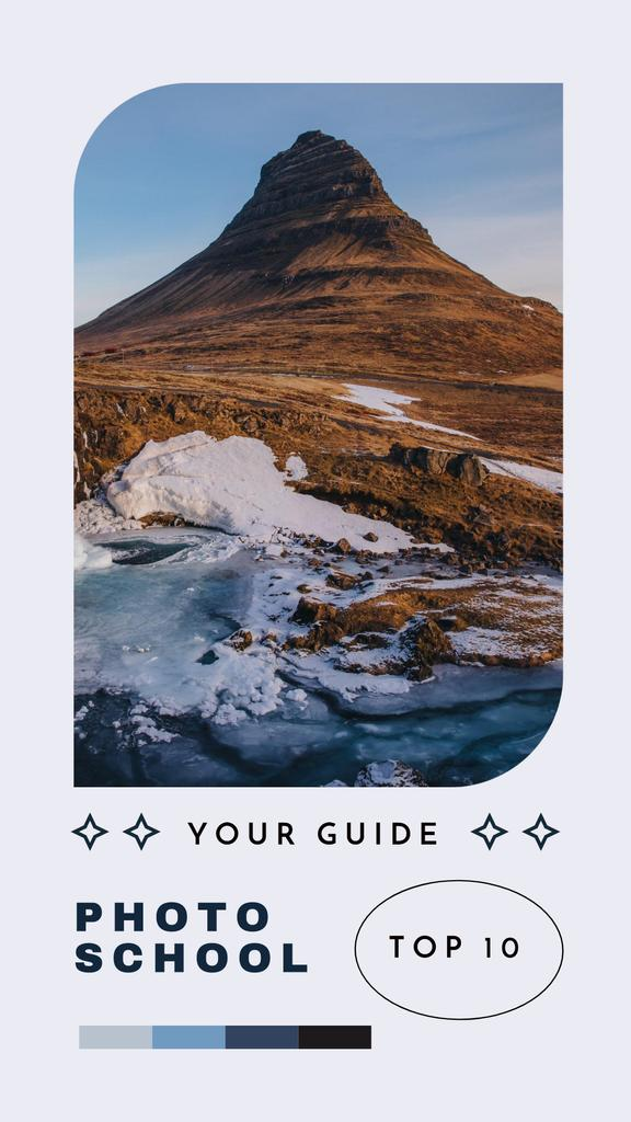 Photo School Offer with Mountain Landscape Instagram Storyデザインテンプレート