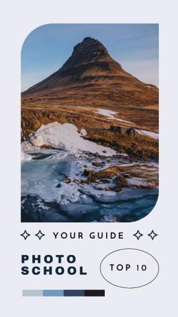 Photo School Offer with Mountain Landscape Instagram Story Design Template